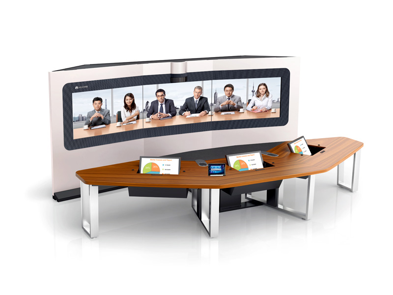 Videoconferência Huawei - Sala de Telepresença