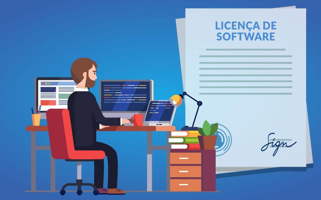 o que é licença de software