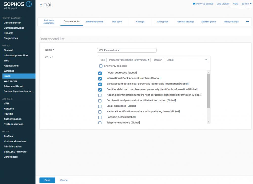 Sophos DLP: Como configurar essa funcionalidade no Sophos XG Firewall seguranca-da-informacao